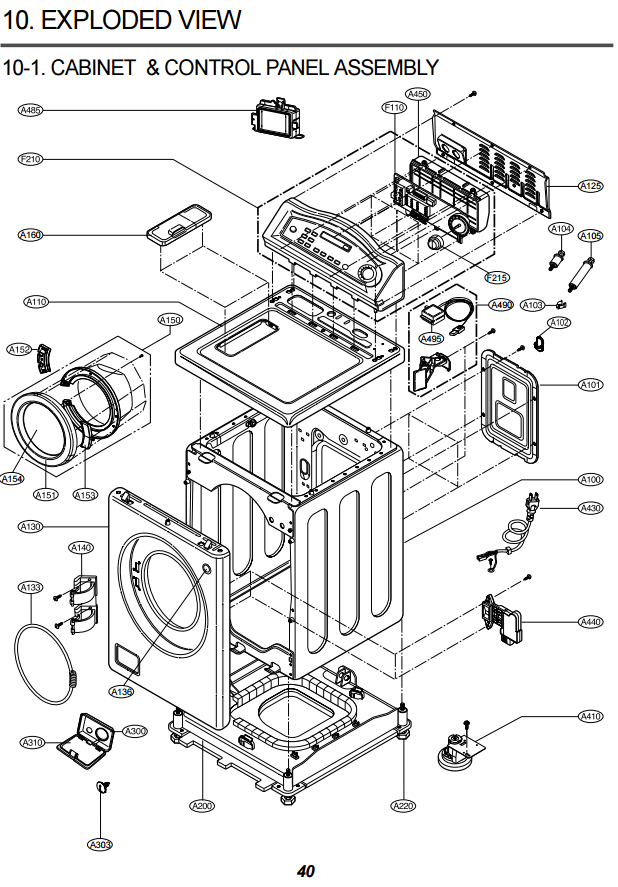 general electric washer parts