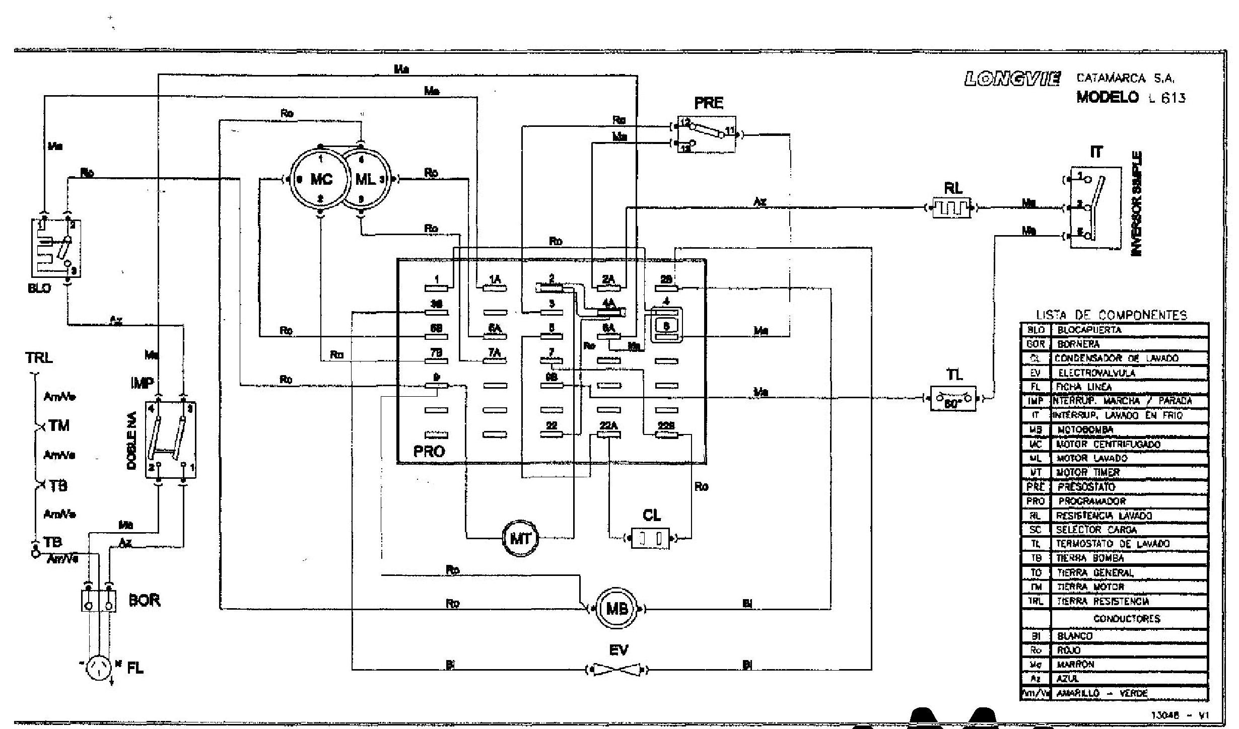solucionado  circuito electrico del timer lavarropa longvie copreci la124