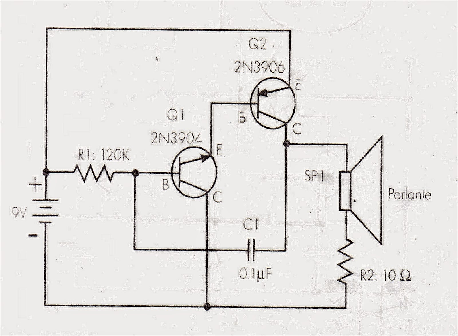 Circuito Oscilador : Solucionado oscilador con npn y pnp duda sobre el diagrama