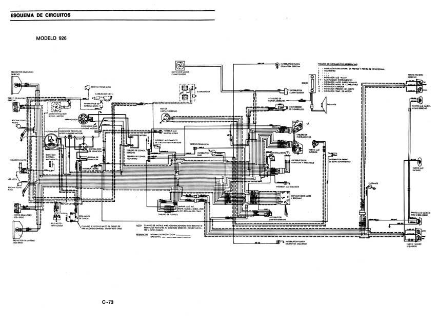 plano instalacion electrica fiat 147