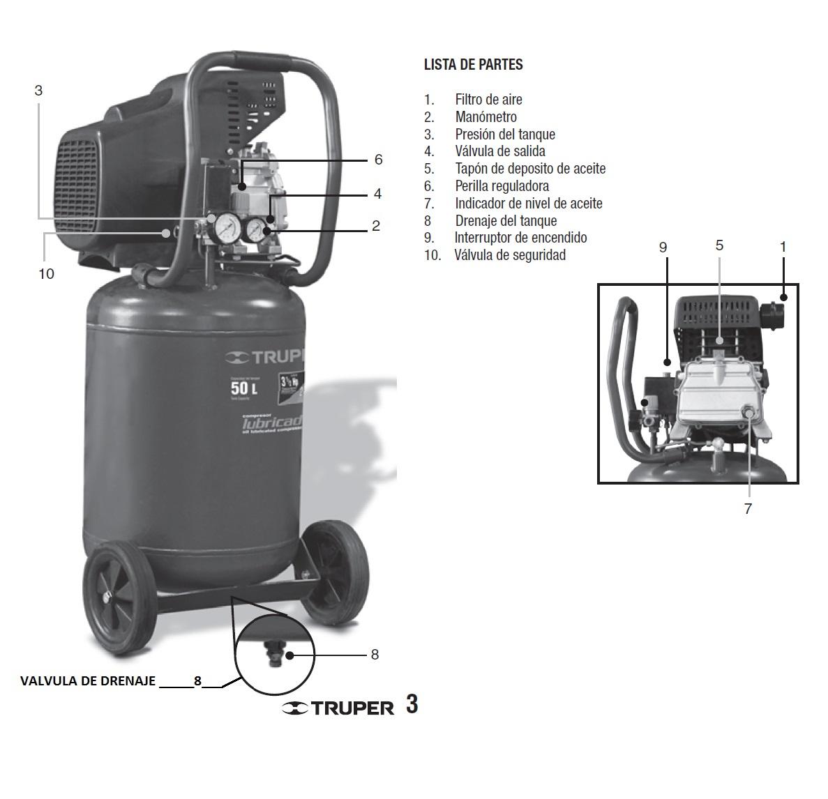 Compresor truper de 50 litro compresores yoreparo - Compresor de aire 25 litros ...