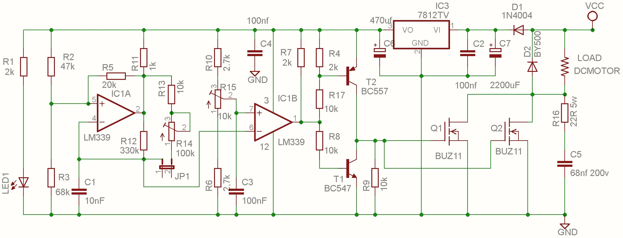 rc brushed motor esc schematic for brushless generator