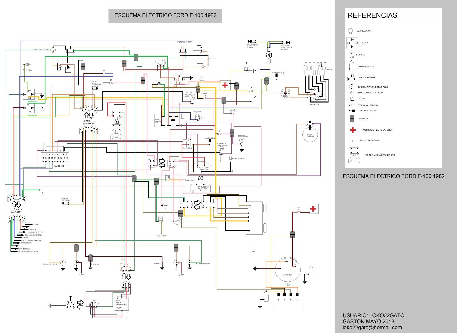 solucionado  circuito electrico de la ford f100 modelo 80